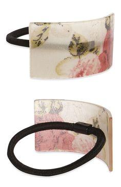 Elástico rabo de cavalo padrão floral