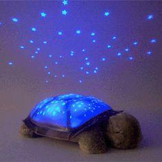 So cute...wish my nieces and nephews were little again... #Twilight Turtle Night Light Stars Constellation Lamp