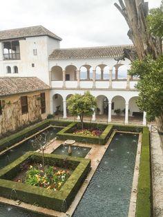 Alhambra Palace Garden Rest-House, Granada, Spain