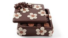 Gourmet Chocolates | Filled Flower Power Art Box | Chocolate Art Boxes | DeBrand Fine Chocolates