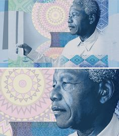 Nelson Mandela banknotes that the South African Reserve Bank brought into circulation. The banknotes each feature a key moment in Madiba's life etched onto the paper. The illustrations in the TVC were made to interpret these scenes. African Crafts, Nelson Mandela, Notes, Key, In This Moment, Illustrations, Graphic Design, Paper, Creative