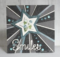 Hello to you all, to day I want you all to feel like a star and this card is for all of you. I have used the fantastic Mister Tom's Treasures! Masculine Birthday Cards, Birthday Cards For Men, Masculine Cards, Male Birthday, Boy Cards, Kids Cards, Fun Fold Cards, Cute Cards, Scrapbooking