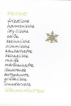 Weihnachten - Weihnachtskarte Schneeflocke - ein Designerstück von Kartenfreude bei DaWanda