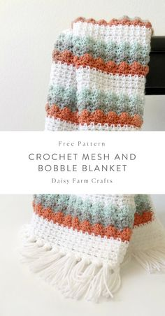 Crochet Afghans Patterns Free Pattern - Crochet Mesh and Bobble Blanket Crochet Afghans, Baby Blanket Crochet, Crochet Stitches, Crochet Baby, Crochet Blankets, Crochet Bobble Blanket Pattern, Bobble Crochet, Crochet Flower Patterns, Afghan Crochet Patterns