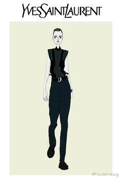 #AuStin Illustration#Yves Saint Laurent Menswear 2012 F/W.