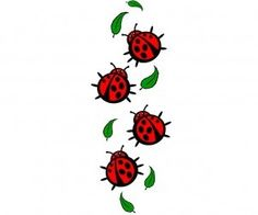 ladybug tattoos to cover my shoulder scars