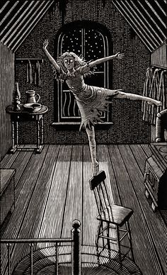 Stunning Illustrations on Scratchboard Artist Douglas Smith made a stunning monochromatic illustration series entitled Thrillers and that could be like engraving. In fact the illustrator used scratch Arte Horror, Horror Art, Dark Fantasy Art, Art Scratchboard, Manga Gore, Art Sinistre, Douglas Smith, Arte Peculiar, Creepy Drawings