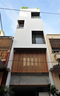 Minimalist architecture is definitely art in a wider scale. Architecture Résidentielle, Beautiful Architecture, Contemporary Architecture, Minimalist Architecture, Facade Design, Exterior Design, Narrow House, Villa, Small Buildings
