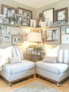 Rustic gallery wall inspiration from the autumn ideas house. Rustic gallery wall inspiration from the autumn ideas house. , Rustic Gallery Wall Inspiration from the Fall Ideas House. , Home Decor Inspiration Sou. Rustic Gallery Wall, Gallery Walls, Gallery Gallery, Room Wall Decor, Corner Wall Decor, Living Room Corner Decor, Living Room Decor With Flowers, Cottage Living Room Decor, Shelf Ideas For Living Room
