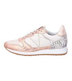 SPM Sudan Sun Sneakers in rosé metallic.