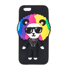 Claires : Funky Disco Panda Phone Case - iPhone 6/6S