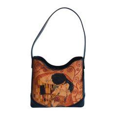 Ručne maľovaná kabelka 7772 inšpirovaná motívom Gustav Klimt