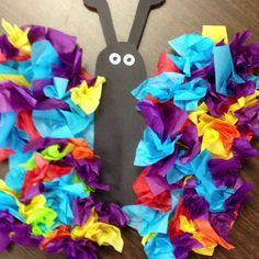 Classroom Bulletin Boards and Art Projects / Tissue paper butterfly