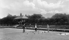 Springburn Park. Bowling Green A mixed game taking place in Springburn Park at the turn of the century