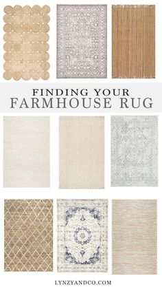 Finding the Perfect Farmhouse Rug // With so many rugs to choose from, it can be hard to choose one for your home!
