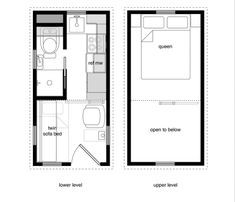 12 X 14 Tiny House Plans | Tiny Houses With Lower Level Beds