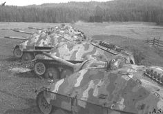 Some Hetzer's somewhere in Czechoslovakia, in 1945