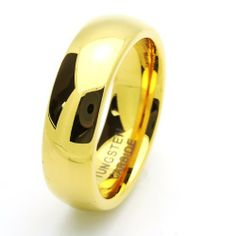 Valentines Day 7MM Comfort Fit Tungsten Carbide Wedding Band Gold Plated Ring For Men & Women (5 to 15) Cobalt Free Double Accent. $19.99. Cobalt Free. Prompt Shipping. Tungsten Wedding Band. Comfort Fit