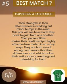 Find your Zodiac Signs Compatibility for all zodiac signs, for couples, relationships and love matches and find your Couple shirts to match. Capricorn And Sagittarius Compatibility, Sagittarius Love, Capricorn Facts, Sagittarius And Capricorn, Signs Compatibility, Aquarius Relationship, Capricorn Relationships, Couple Relationship, Find Your Zodiac Sign