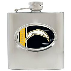 NFL San Diego Chargers 6oz Stainless Steel Hip Flask by Great American Products. $25.42. High quality collectible design. Proudly displays hand-crafted metal emblem featuring the Team Logo.. Handcrafted  high-quality metal logo. Officially Licensed flask decorated in team colors.