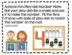 Autumn Fun Math Stations Galore-11 Differentiated and Aligned Stations3 Differentiated Kindergarten, Kindergarten Teachers, Kindergarten Activities, Play Doh Fun, Math Manipulatives, Fun Math Games, Math Practices, Math Concepts, Math Stations