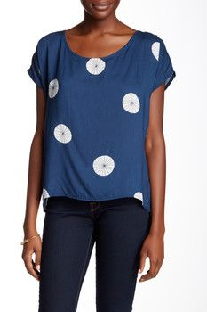 oat + fawn Scoop Neck Woven Blouse
