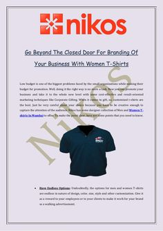 dbcd59570 Go Beyond The Closed Door For Branding Of Your Business With Women T-Shirts  Pune