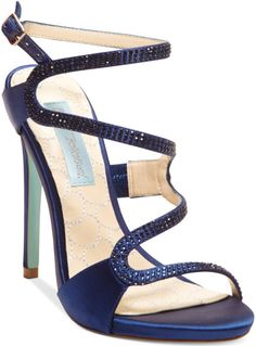 Betsy Johnson - Blue By Gift Evening Sandals @Lyst
