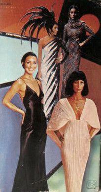 Assorted Cher costumes by Bob Mackie Diana Fashion, 70s Fashion, Runway Fashion, Vintage Fashion, Couture Fashion, Vintage Style, Cher Costume, Cher Bono, Bob Mackie