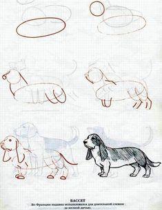 dog learning,dog tips,dog care,teach your dog,dog training Cartoon Sketches, Animal Sketches, Art Drawings Sketches, Animal Drawings, Art Drawings For Kids, Easy Drawings, Planet Drawing, Drawing Tutorials For Beginners, Art Basics
