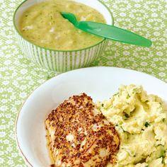 Zucchini-Fisch-Brei fürs Baby, Fischfilet mit Zucchini für die Mutter