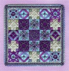 Vineyard Holiday Quilt Patch  purple colorway  www.stitchplay.com