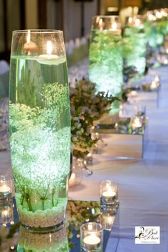 Gorgeous Wedding Table Unusual Floating Candle Vases ♡