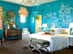 Here is Modern Blue Bedroom Wall Color Decorations Ideas Photo Collections at Modern Bedroom Gallery. More Picture Blue Bedroom Wall Color for your references can you found at her Home Design, Interior Design, Design Ideas, Wall Design, Interior Ideas, Design Inspiration, Design Hotel, Color Interior, Studio Design