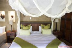 Learn about what made our Vuyani Safari Lodge experience in South Africa so amazing, see photos of the lodge area, hotel rooms and more! Mosquito Net, Hotel Reviews, How To Take Photos, Nice View, South Africa, Safari, Bed, Room, Furniture
