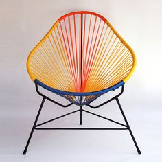 Cultural flair! This is a classic 1950's Mexican chair. It can be placed indoors or outdoors.