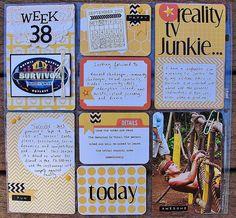 Project Life: Week 38-2013.  Honey Core Kit