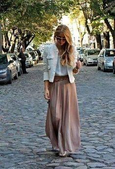 Falda larga + chanel