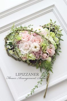 Gorgeous Flower Arrangement in a Frame ~ Awesome! Deco Floral, Arte Floral, Funeral Floral Arrangements, Flower Arrangements, Flower Boxes, Flower Frame, Funeral Flowers, Wedding Flowers, Dried Flowers