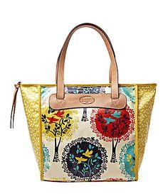 Fossil KeyPer Shopper Tote Bag #Dillards...but in the bliue bird print
