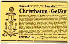 Werbung - Original-Werbung/ Anzeige 1905 - CHRISTBAUM - GELÄUT / BELL / GRÄFRATH BEI SOLINGEN - ca. 110 x 65 mm