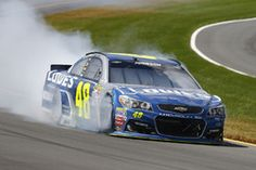 Jimmie Johnson, Hendrick Motorsports Chevrolet, auto chocado