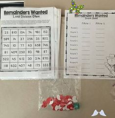 Remainders Wanted- Free Long Division Game Remainders Wanted FREE Long Division Game 3rd - 6th Grade - Click for more information and more math games<br> This game is a great game that I found free on Teachers Pay Teachers – (game here). My 5th graders had so much fun with it, they really didn't pay any attention to how many long divisi… Long Division Activities, Division Math Games, Multiplication And Division, Long Division Game, 4th Grade Games, Fourth Grade Math, Teacher Games, Math Teacher, Teaching Math