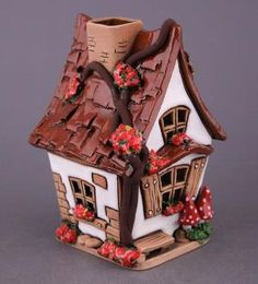 *POLYMER CLAY ~ fairy house by viola