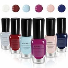 Bontime Non Toxic nail polish. This polish is Babies and kids Safe nail polish. cost-efficient and eco-friendly.Free of chemical solvents that are corrosive to your nails.you no need go to salon.if you don't like the color on your nail. then just peel it off and paint another ones to goes nice with your clothes.Always ensures smooth and even covering. 90s rapid dry for each layer Apply 2 coats for good coverage.