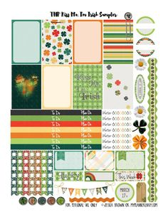 Kiss Me, I'm Irish Sampler - Free Planner Printable | My Planner Envy