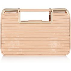 Z Spoke by Zac Posen Sweet Danger pleated patent-leather clutch ❤ liked on Polyvore