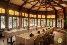 rooms in the belhurst castle seneca lake   Belhurst Castle and Inn, Seneca Lake, NY. Solarium dining room.