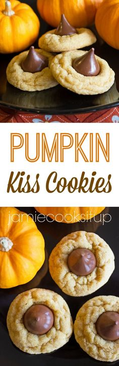 Pumpkin Kiss Cookies from Jamie Cooks It Up!