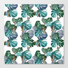 of Paradise Repeat Pattern Canvas Print by justkiddingButterflies of Paradise Repeat Pattern Canvas Print by justkidding Cute 🥰 The Funniest Memes Of This Month's - 26 Photos Particulier tuinontwerp Vlaardingen. Botanical home decor Pattern Art, Print Patterns, Canvas Prints, Art Prints, Repeating Patterns, Butterflies, Paradise, Green Leaves, Graphic Design